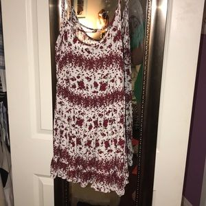 Red Roses Brandy Melville Babydoll Dress